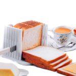 Annedenn Küche Pro Brot Loaf Slicer Schneidemesser Schneiden Schnitte Sogar Scheiben Guide Tool, Weiß